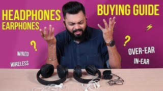 Earphones / Headphones Buying Guide 2019 ⚡  ⚡  ⚡ Find The Perfect One For You!