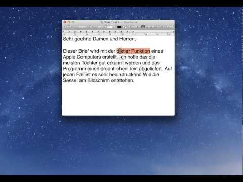 Diktierfunktion beim Mac