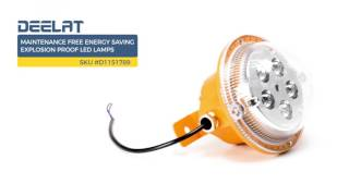 Maintenance Free Energy Saving Explosion Proof LED Lamps - 7W 150 x 170 x 140 mm