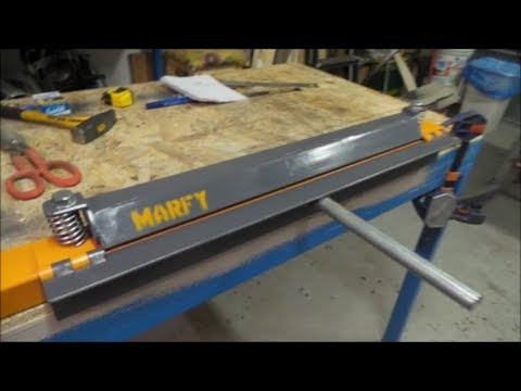 🔨 Piega lamiera ferro fai da te ( DIY Press Metal Brake for Bending Sheet Metal ) Homemade