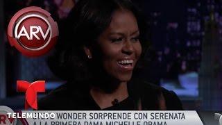 Stevie Wonder sorprende con serenata a Michelle Obama   Al Rojo Vivo   Telemundo