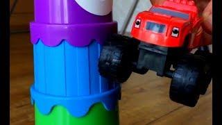 Вспыш и чудо машинки строят башню, мультик про машинки, учим цвета, развивающий мультфильм