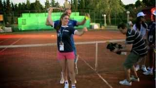 preview picture of video 'Dolgopolov Gives Tennis Lesson To Umag Hostesses'