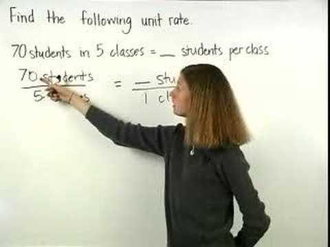 Unit Rate - MathHelp.com - Pre Algebra Help - YouTube