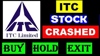ITC Stock Crashed 😨😵| Should I exit or hold? | #ITCshare Latest news | #ITC SHARE PRICE TARGET #SM