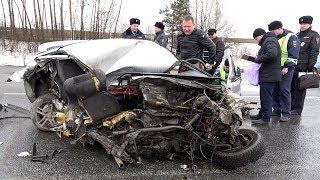"""Смертельная авария на трассе Р255 """"Сибирь"""" под Ачинском 9 апреля 2018 года"""