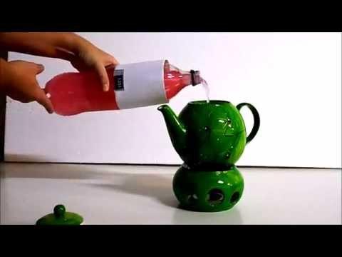 Teekanne mit Stövchen - Inhalt 1.2 Liter