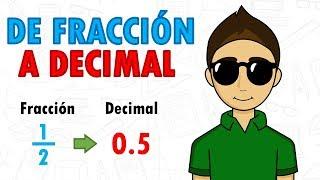 CONVERTIR FRACCION A DECIMAL Super Facil - Para Principiantes