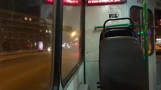 5411 работает! Троллейбус Санкт-Петербурга 9-96: ЗиУ-682В б.5411 по №4 (21.02.19)