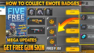 How To Collect Emote Badges & Redeem Pink Devil Costume? || Free Fire New Watch Ads & Earn Event