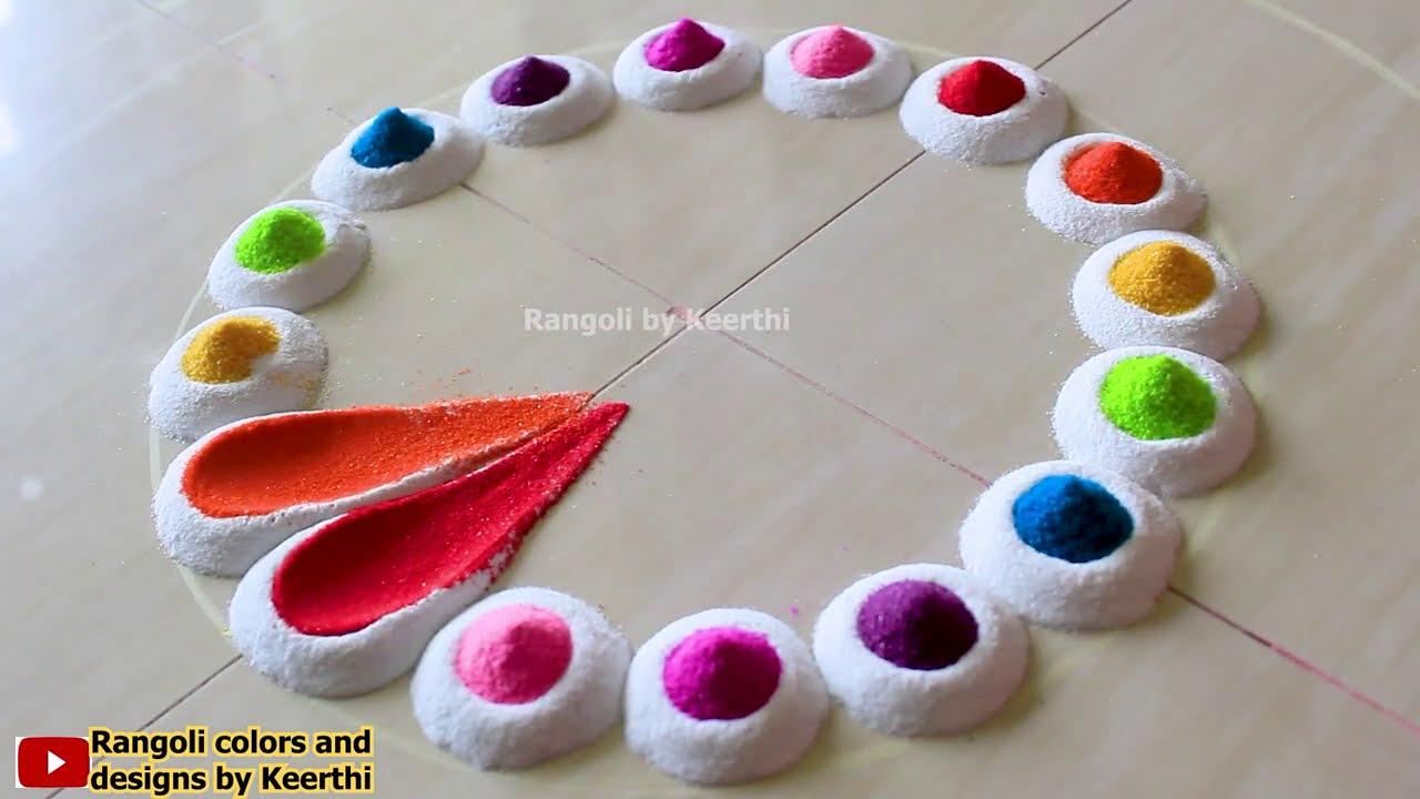 simple rangoli design by keerthi