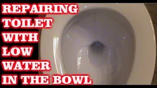 Toilet Bowl Water Is Low & Not Flushing Good