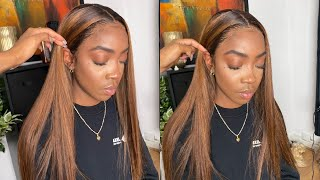BROWN/BLONDE HIGHLIGHTS TUTORIAL, LACE MELT AND INSTALL START 2 FINISH ALI PEARL