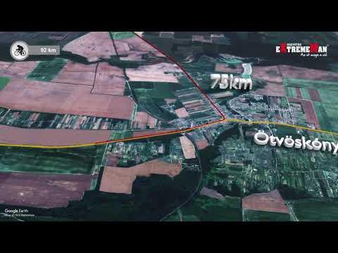 eXtremeMan pályabemutató: a kerékpározás útvonala