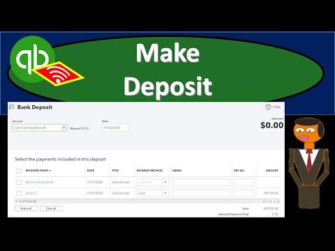 Make Deposit 131 QuickBooks Online Not for Profit