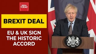 EU & UK Clinch Narrow Brexit Accord | India Today - Download this Video in MP3, M4A, WEBM, MP4, 3GP