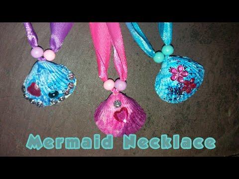 DIY sea shell mermaid Necklace