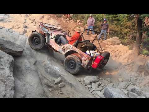 Vintage Willys Jeeps Rubicon Trail 2018 (Day 2 Part 1)