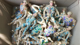 Box of Toy | Gray Plastic Army Men Toy Soldiers Classic Military Figurine Action