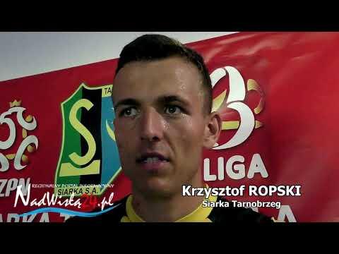 WIDEO: Krzysztof Ropski po meczu z Wisłą Sandomierz [WYWIAD]