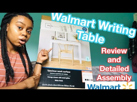WALMART WRITING DESK REVIEW AND ASSEMBLY