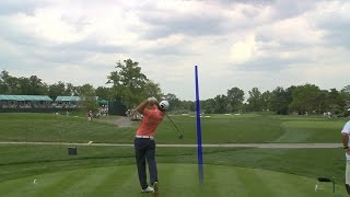 Brooks Koepka smashes a 377-yard drive at the Memorial Tournament