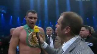 Чизора устроил скандал после поражения Виталию Кличко