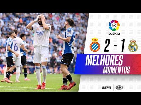 EX-BARCELONA FAZ GOLAÇO, E REAL PERDE EM LALIGA | Espanyol 2 x 1 Real Madrid | Melhores Momentos