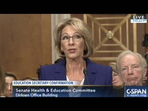 Democrats Grill Donald Trump's Pick For Education Secretary At Confirmation Hearing!