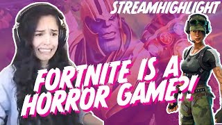 Warning: Screams. My experience with Thanos. Valkyrae - Fortnite Highlights