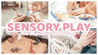 5 Simple DIY SENSORY PLAY ACTIVITIES For Babies & Toddlers