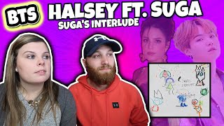 Halsey   BTS SUGA's Interlude Official Audio & COLOR CODED LYRIC REACTION   A BIRTHDAY SURPRISE