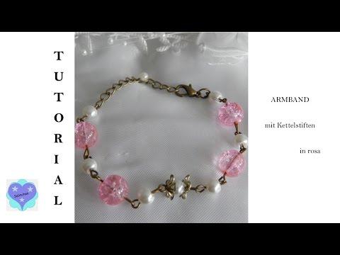 °Tutorial° - Kettelstiftarmband in rosa