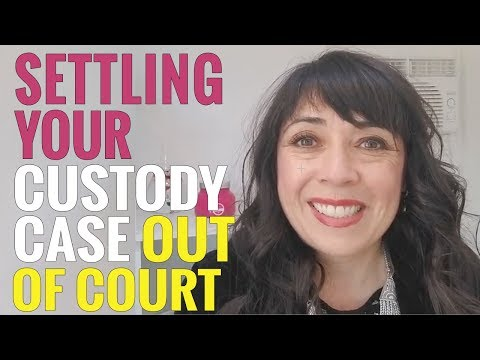 Can Child Custody be Settled Out of Court?