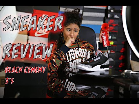 """BABY KAELY """"Sneaker review on the Air Jordan Black Cement 3's"""