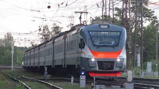 Электропоезда ЭП2Д-0005\0042 ЦППК станция Нара 6.06.2018