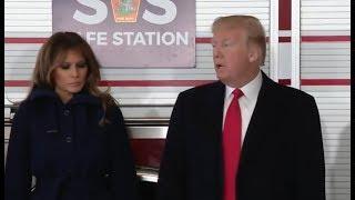Trump Speaks at a SAFE Station