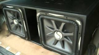 Kicker solo baric 12 square subwoofer review most popular videos 2 kicker solo baric l7 15s on a american bass vfl 1201 in atrend publicscrutiny Choice Image