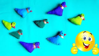 How To Make Bird With Cotten || Cloth Bird Making
