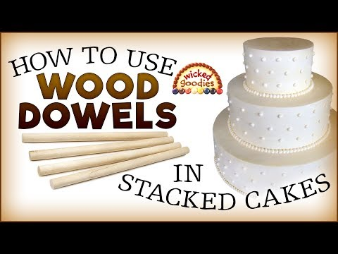 Wood Dowels as Cake Supports