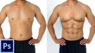 Photoshop Tutorial : How To Make 6 pack ABS In Photoshop