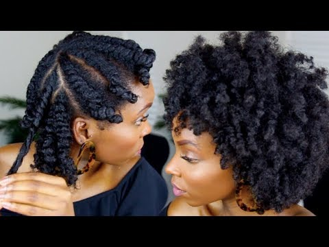 FLAT TWIST OUT ON 4C NATURAL HAIR