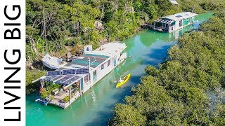 Island Living In An Off-The-Grid House Boat
