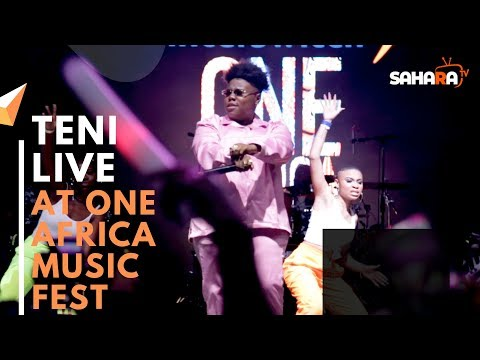 TENI Performs Live #ONEAFRICAMUSICFEST NYC 2019