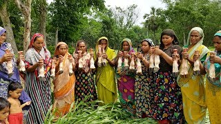 Cow Leg & Mung Beans Curry Cooking - 24 Pieces Paya Nehari & Ruti Making To Feed Whole Villagers