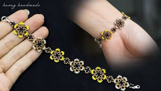 Seed Beads Bracelet. How To Make Beaded Bracelet. Beading Tutorial