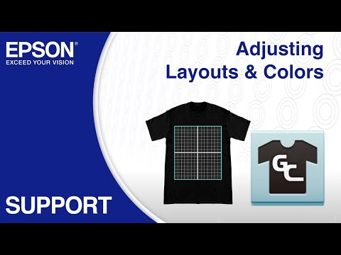 Epson Garment Creator | Adjusting Layouts & Colors