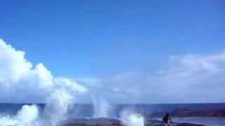 preview picture of video 'Alofa'aga Blowholes at Taga, Savaii island, Samoa'