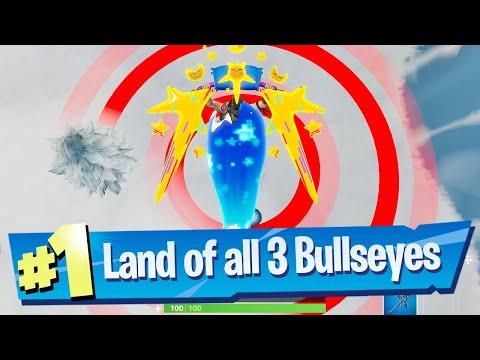 Land on different Bullseyes - Fortnite (Bullseye! Challenge)