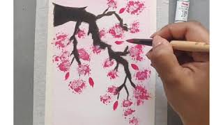Tutorial: Basic Cherry Blossom with a Chinese Lantern
